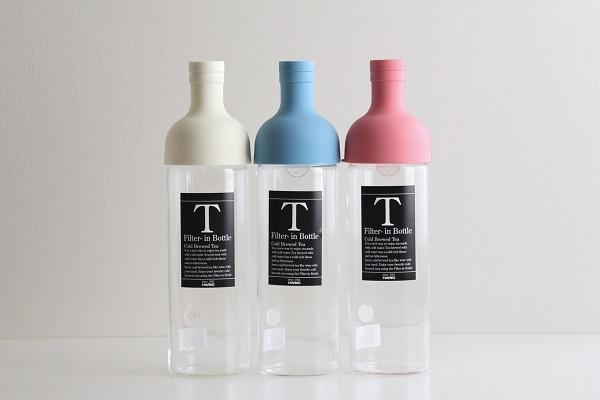HARIO/ハリオ フィルターインボトル 耐熱 水出し茶ポット ホワイト・ライトブルー・ピンク 750ml