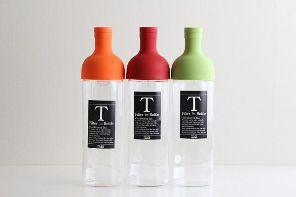 HARIO/ハリオ フィルターインボトル 耐熱 水出し茶ポット オレンジ・レッド・ライムグリーン 750ml