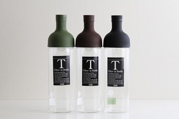 HARIO/ハリオ フィルターインボトル 耐熱 水出し茶ポット オリーブグリーン・ブラウン・ブラック 750ml