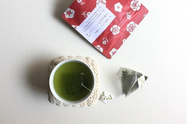 つゆひかり緑茶ティーバッグ 静岡産 ひも付 1人用 3g×5袋