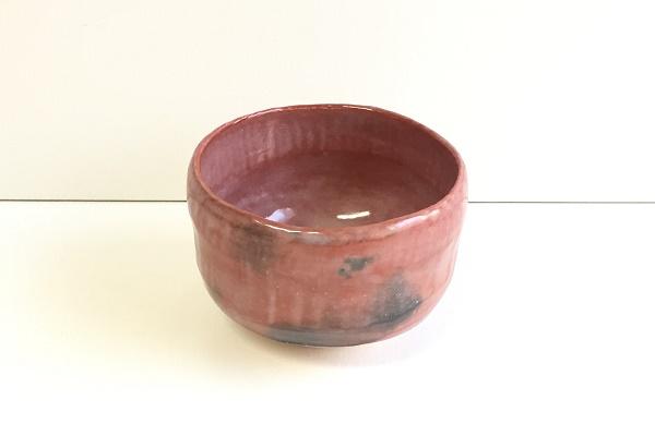 抹茶茶碗 楽焼 赤楽 松楽窯作
