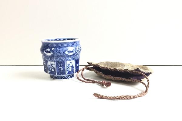小茶碗 祥瑞 仕覆付 雅城作